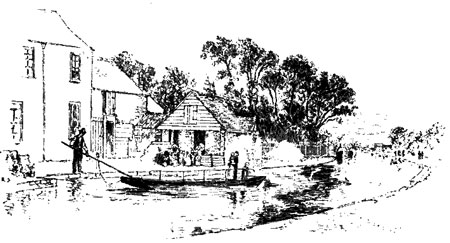 The old ferry that ran from the bottom of what is now Combe Road.