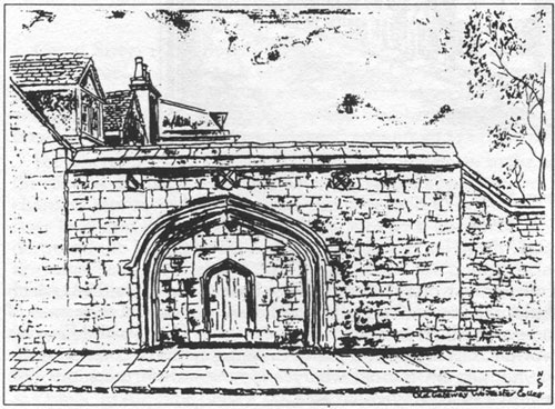 The entrance to the old monastery, the Carmelite gate in Walton Street