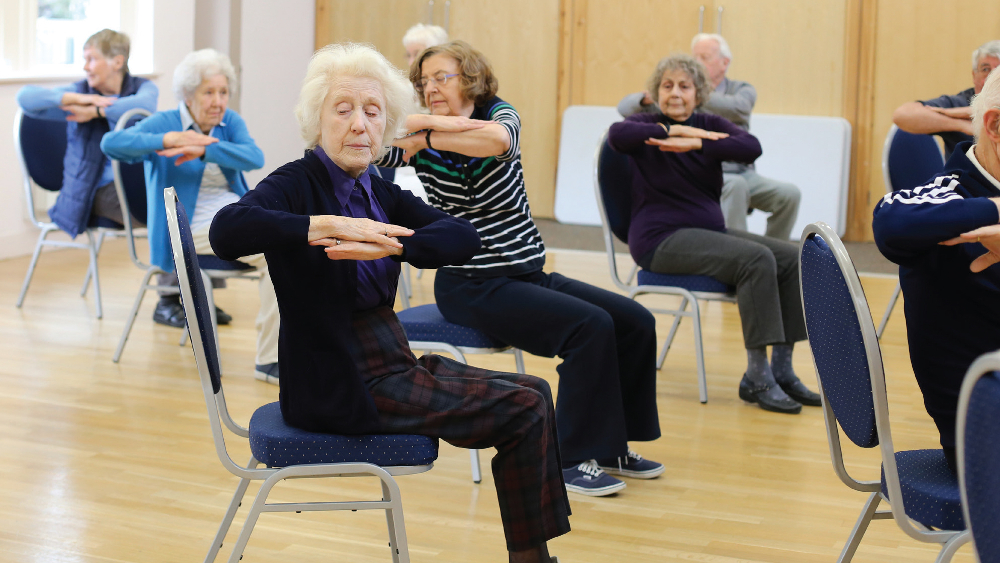 Strength and balance exercise class