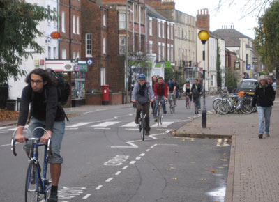 Walton Street, one of the city's key north-south routes, is likely to become more congested, with many more cyclists and pedestrians. People already often have to step into the street to pass each other on the narrow pavements. One option might be to close the street to through traffic.