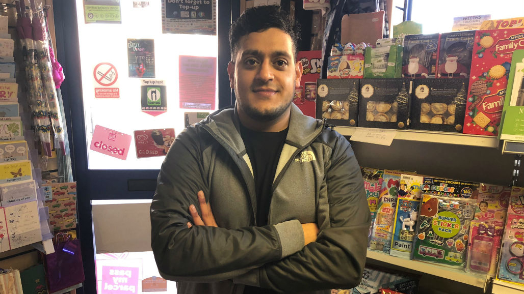 Faisal Shaukat at Ali's Jericho Store