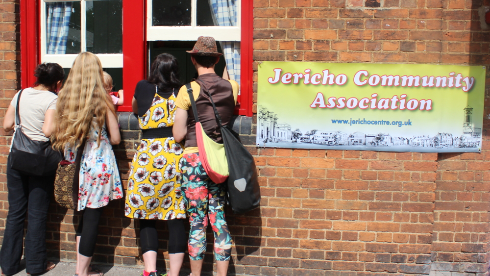 No need to hang about outside. Anyone can join the Jericho Community Association.