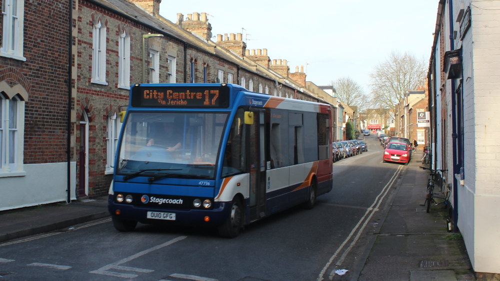 Soon to disappear. The Jericho bus will no longer be navigating our narrow streets.