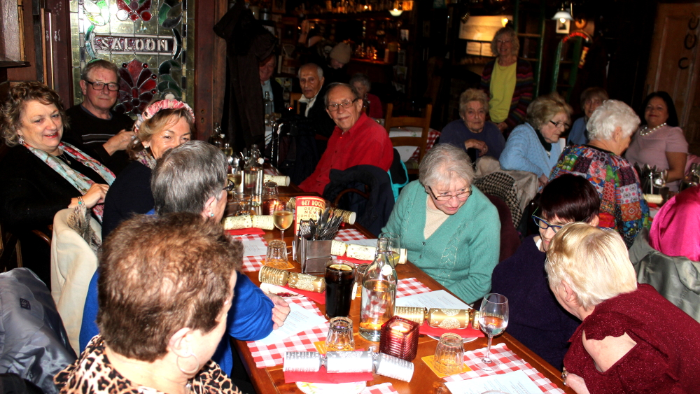 The Bookbinders organized a lunch for residents earlier this year.