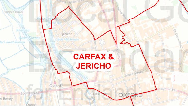 The extent of the new ward - though Jericho and Carfax might sound better.