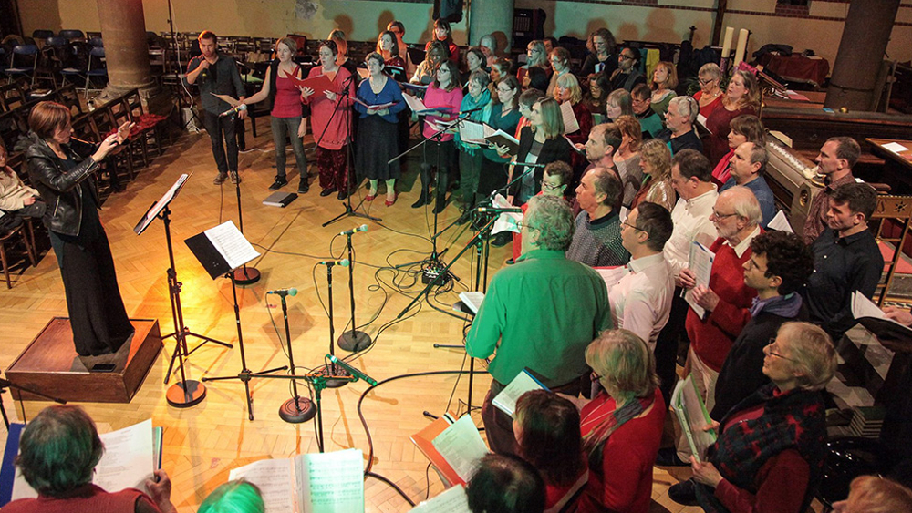 <p>One the liveliest local groups, the Jericho Singers</p>